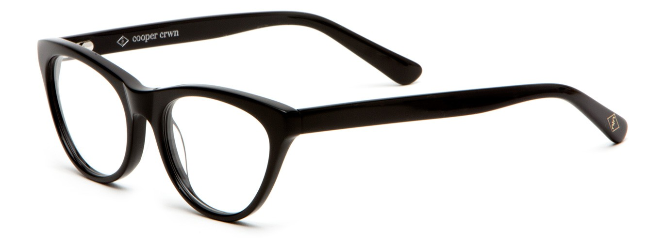 Soho Sunglasses  soho acetate fashion eyeglasses in black cooper crwn women s
